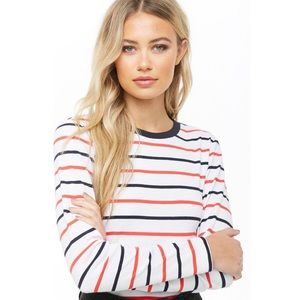F21 French Sailor Striped Top